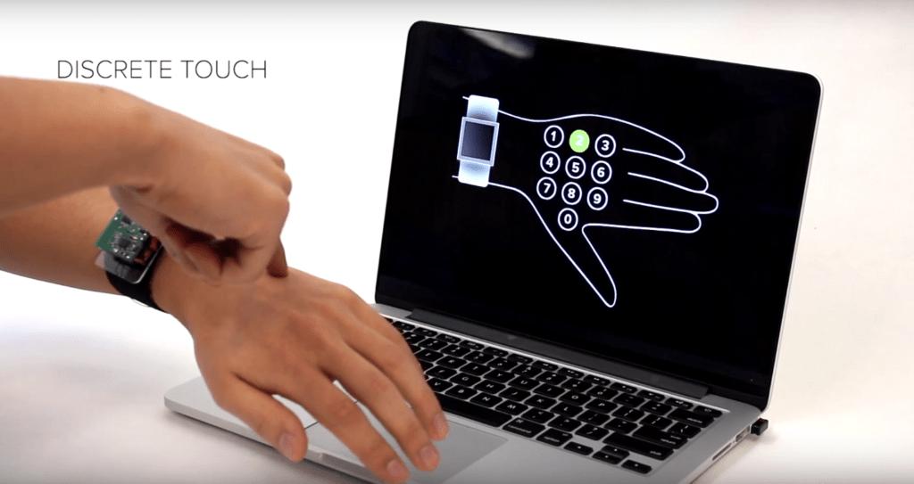 Технология превращает кожу руки в тачскрин