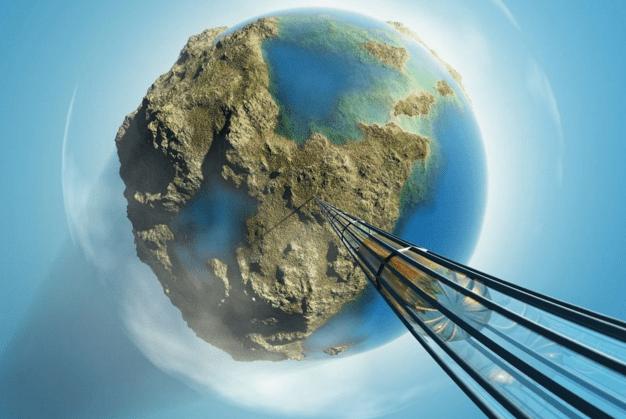 Космический лифт, который будет доставлять астронавтов на высоту 12 тысяч миль