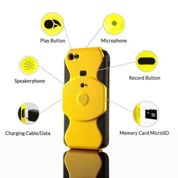 20390 Для iPhone - чехол-диктофон