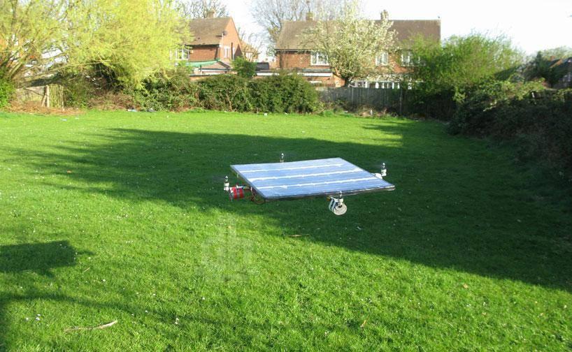 Созданный на солнечной энергии квадрокоптер
