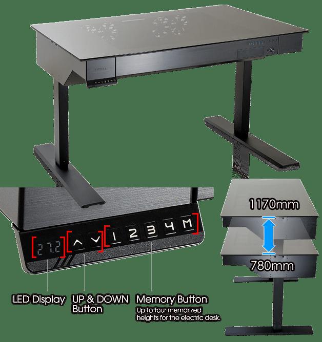 Компьютерный корпус в формате регулируемого стола
