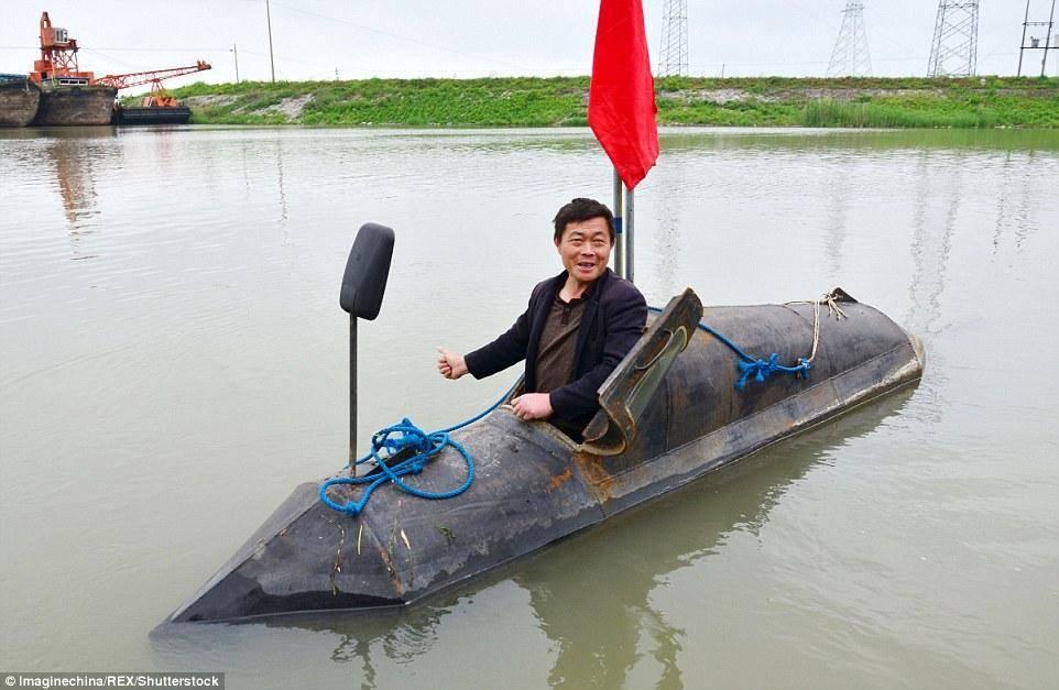 Китайский фермер построил подлодку