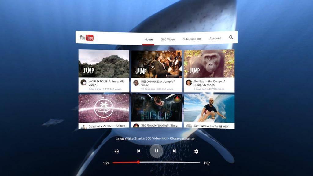 Google выпустит VR-версию приложения YouTube