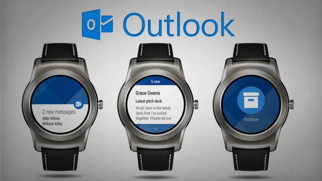 В Outlook для Android Wear можно будет настроить тему оформления