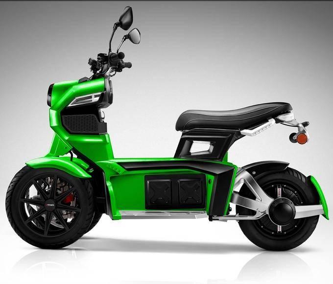 22488 Электрический трицикл, управляемый наклонами тела
