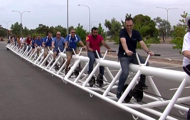 Самый длинный велосипед в мире