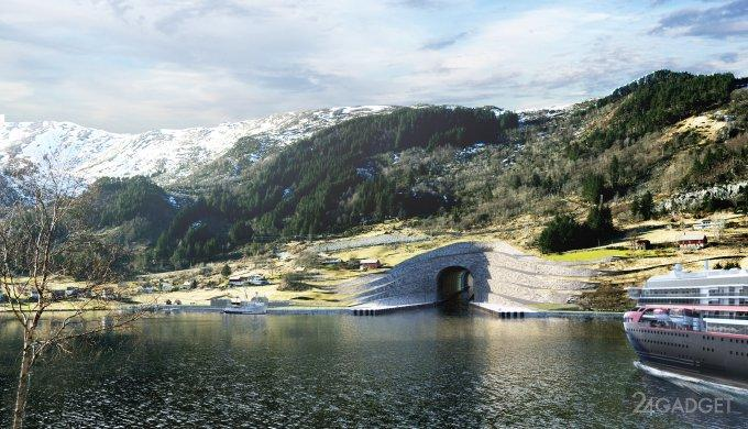 38402 Новая достопримечательность Норвегии — судоходный тоннель (15 фото + видео)