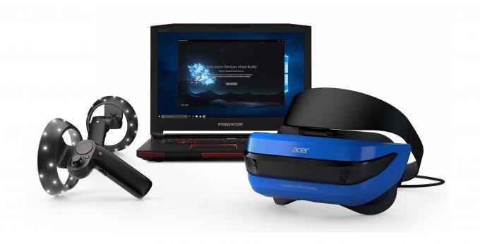 39597 Представлены шлемы смешанной реальности от Acer и HP и контроллеры Microsoft (6 фото + видео)