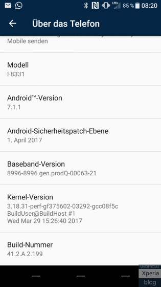 39300 Sony Xperia XZ и Xperia X Performance обновляются до Android 7.1.1