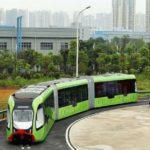 40146 В Китае испытывают гибридный общественный транспорт на основе автобуса и трамвая