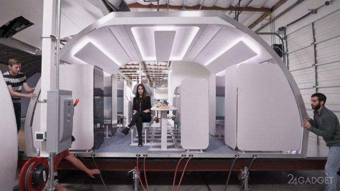 40589 Показан прототип модульного салона самолёта Airbus (3 фото + 2 видео)