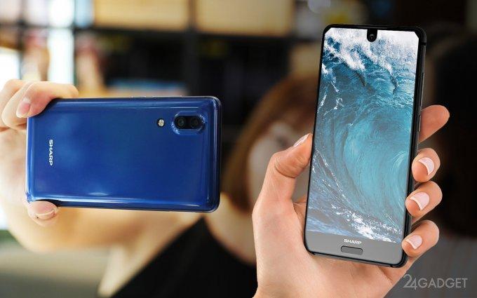 41225 Sharp Aquos S2 — помесь Xiaomi Mi Mix, Essential Phone и iPhone 8 за $370 (13 фото + видео)
