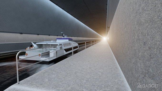 Новая достопримечательность Норвегии — судоходный тоннель (15 фото + видео)