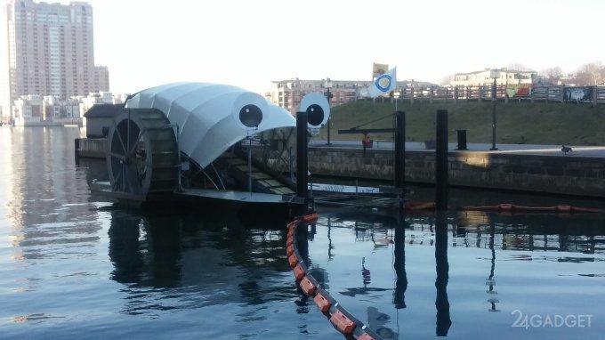 Лодка на солнечных батареях следит за чистотой рек (9 фото + видео)