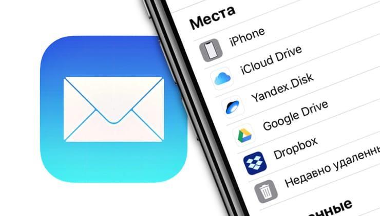 Как прикреплять файлы к письмам на iPhone из Яндекс.Диска, iCloud, Google Drive, Dropbox и т.д.