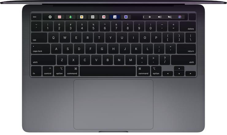 Клавиатура и трекпад MacBook Pro 13 2020