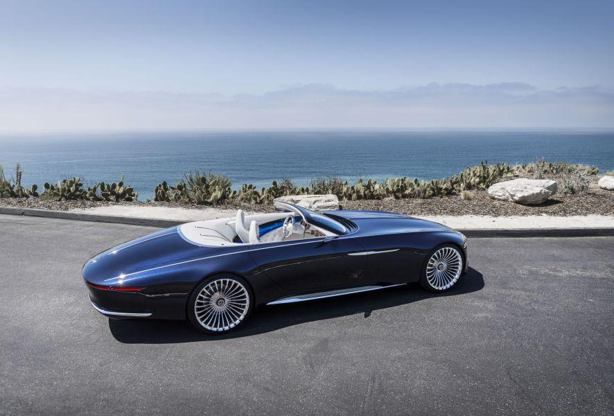 Mercedes показал 6-метровый электромобиль Vision Mercedes-Maybach 6 Cabriolet