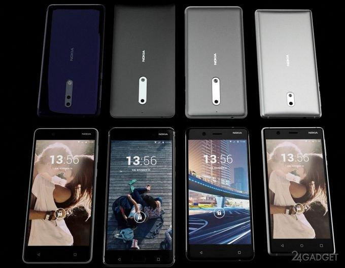 Будущий флагман Nokia составит конкуренцию iPhone 8 и Galaxy S8 (видео)