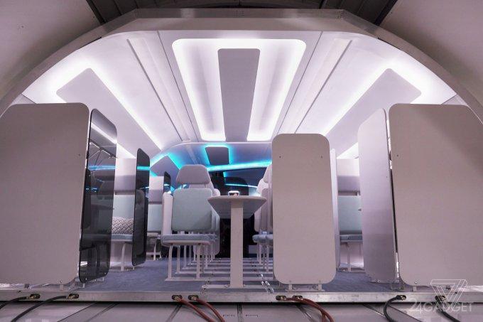 Показан прототип модульного салона самолёта Airbus (3 фото + 2 видео)