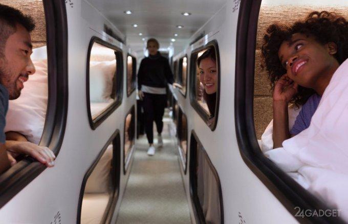 Путешествие с комфортом: в Америке курсируют автобусы с кроватями (7 фото)