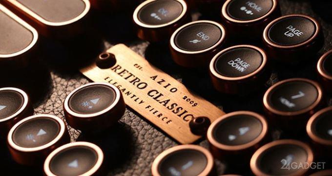 Винтажная клавиатура с подсветкой и натуральной кожей (15 фото + видео)