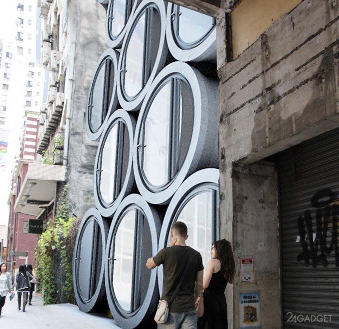 Дома из бетонных труб в будущем вполне могут решить проблему перенаселения больших городов (16 фото + видео)