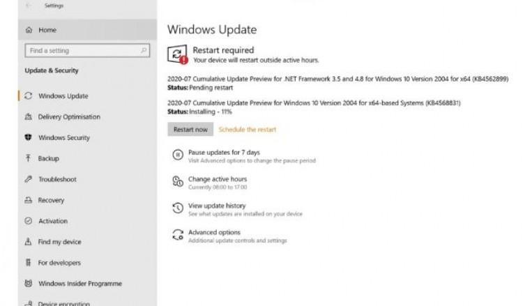 61109 Microsoft выпустила обновление для Windows 10 KB4568831