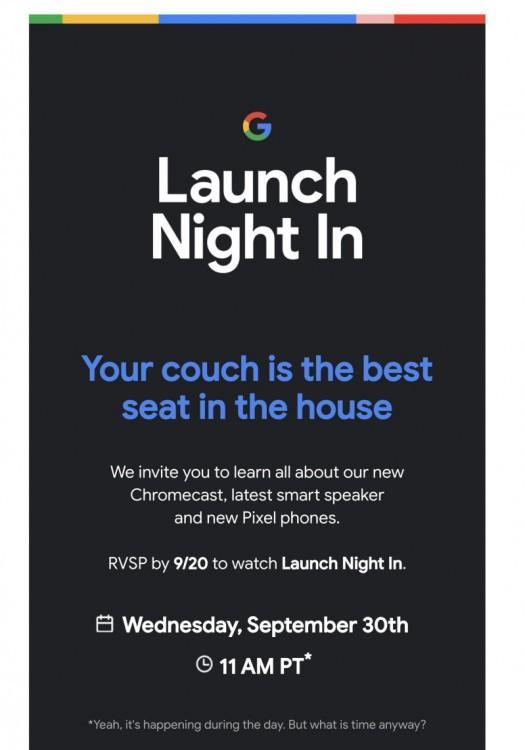 61566 Google объявляет о мероприятии 30 сентября чтобы представить новые продукты