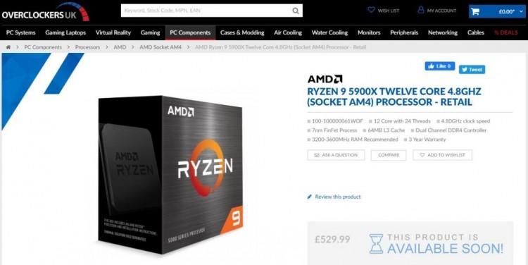 61728 Европейские Ryzen 5000 окажутся дороже американских