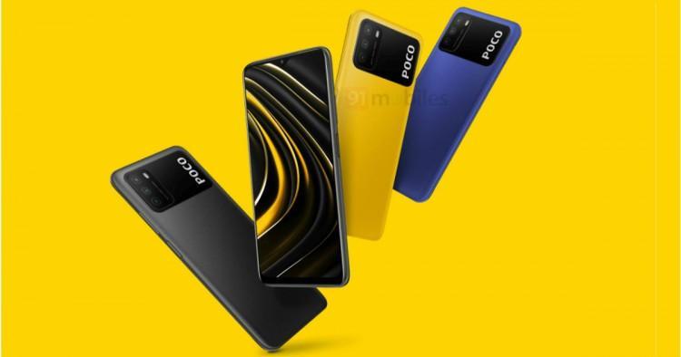 62056 Смартфон Poco M3 показали на рендере
