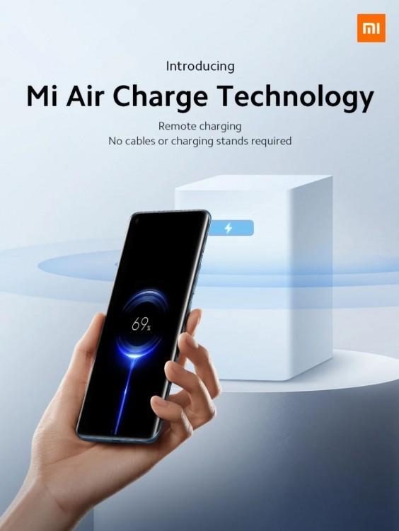62861 Технология Xiaomi Mi Air Charge обеспечивает настоящую беспроводную зарядку