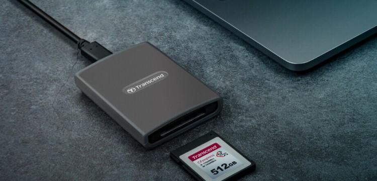 63016 Transcend представила картридер CFexpress Type B RDE2 и карту памяти CFexpress 820 Type B