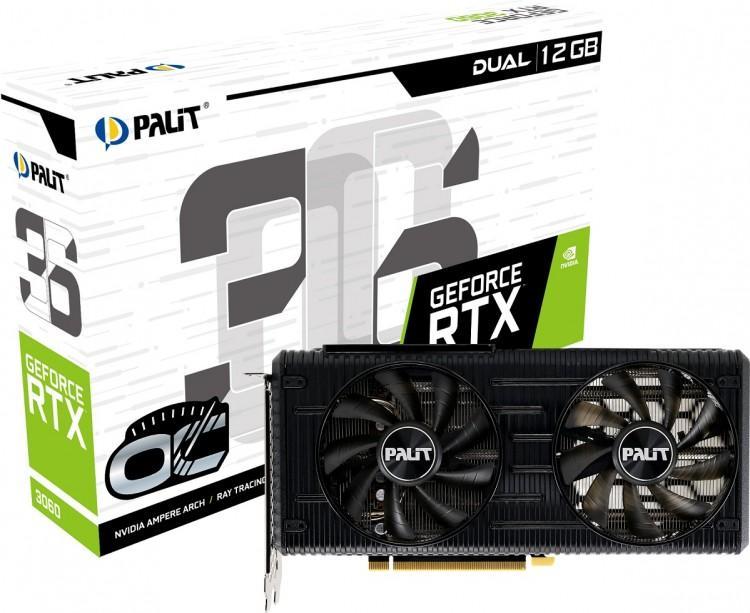 63067 Видеокарты от Palit GeForce серии RTX 3060 Dual и StormX появятся в продаже
