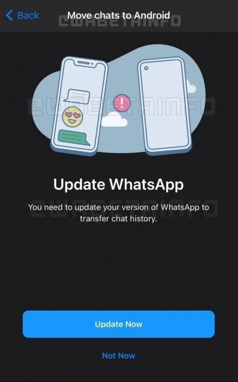 63337 WhatsApp работает над функцией переноса истории чата