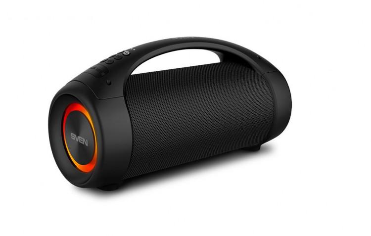 63551 SVEN PS-370 - портативная акустика с защитой от воды и подсветкой