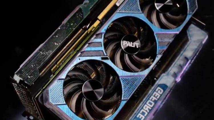 63562 Palit демонстрирует видеокарту GeForce RTX 3070Ti Chameleon
