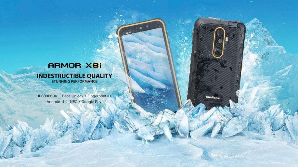 63686 Защищенный смартфон Ulefone Armor X8i получил Android 11